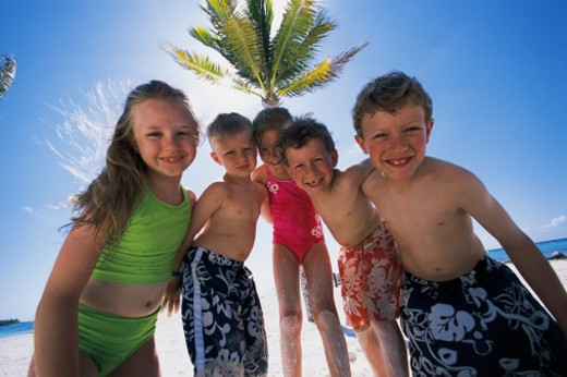 Children on beach : Stock Photo
