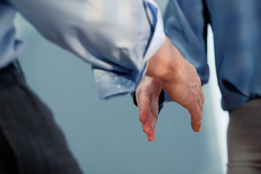 Men shaking hands : Stock Photo