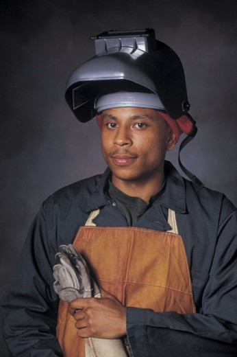 Portrait of welder : Stock Photo