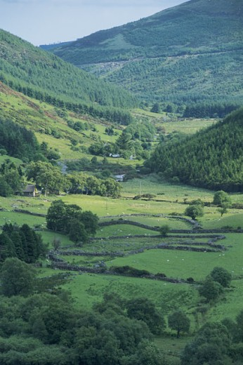 Pastoral landscape of Glendalough County in Wicklow , Ireland : Stock Photo