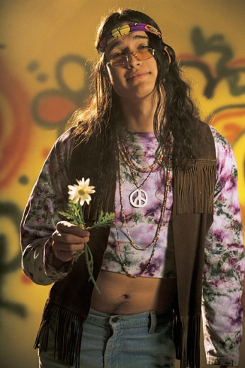 Stock Photo: 1557R-281078 Portrait of a hippie