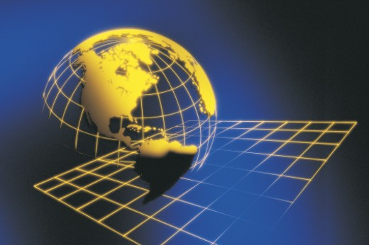 Globe with grid : Stock Photo