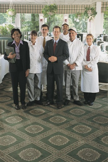 Group portrait of restaurant staff : Stock Photo
