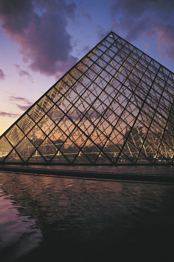 Pyramid of the Louvre, Paris, France : Stock Photo