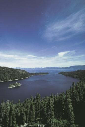 Stock Photo: 1557R-281967 Emerald Bay , Lake Tahoe , California