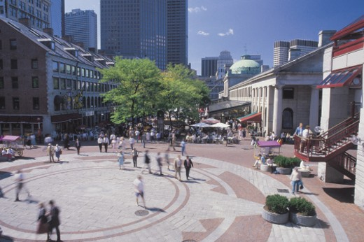 Stock Photo: 1557R-281999 Quincy Market , Boston , Massachusetts