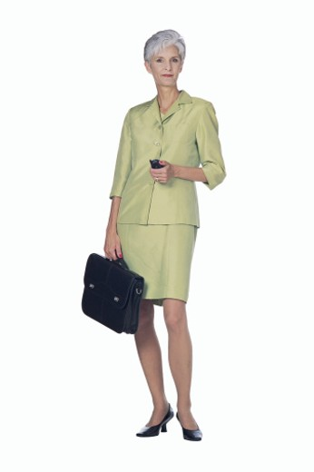 Businesswoman with briefcase : Stock Photo