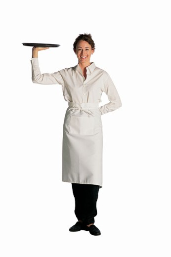Waitress with tray : Stock Photo