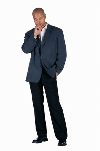 Stock Photo: 1557R-284333 Serious businessman