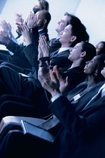 Stock Photo: 1557R-284460 Audience clapping