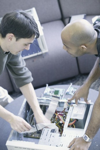 Computer technicians : Stock Photo