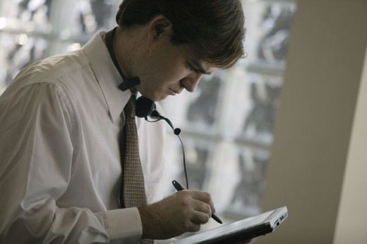 Man using tablet computer : Stock Photo