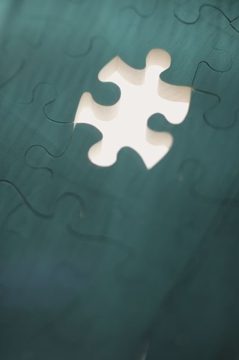 Stock Photo: 1557R-285982 Puzzle with missing piece