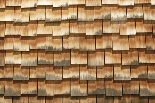 Shingles on roof : Stock Photo