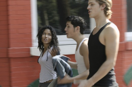 Stock Photo: 1557R-287942 Teenagers walking together