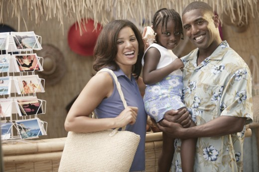 Stock Photo: 1557R-289105 Family on vacation