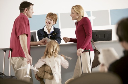 Family at airport : Stock Photo
