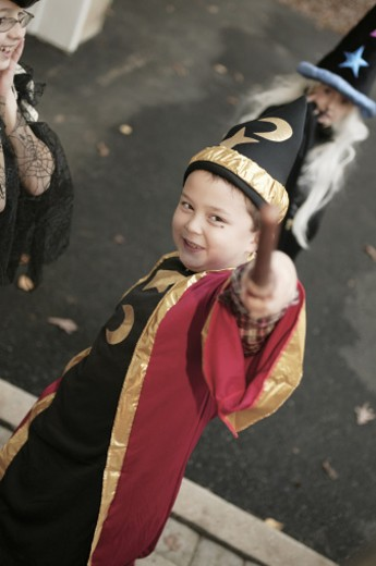 Stock Photo: 1557R-290365 Boy in Halloween costume
