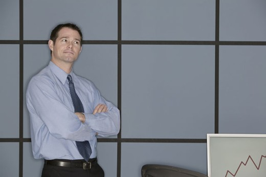 Stock Photo: 1557R-290654 Businessman in office