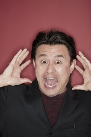 Man screaming : Stock Photo