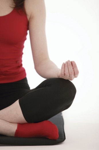 Stock Photo: 1557R-291963 Woman doing yoga