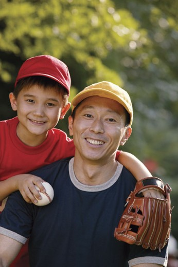 Stock Photo: 1557R-292850 Portrait of father and son