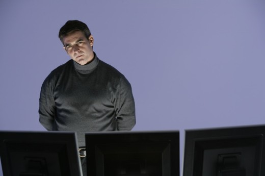 Stock Photo: 1557R-295627 Man at computers