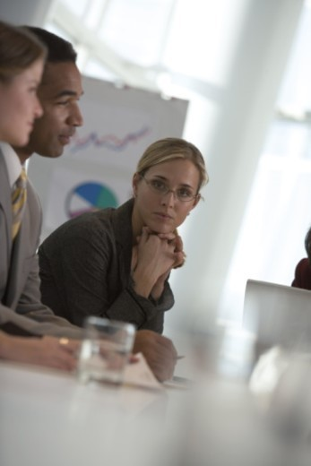 Stock Photo: 1557R-295943 Woman in meeting