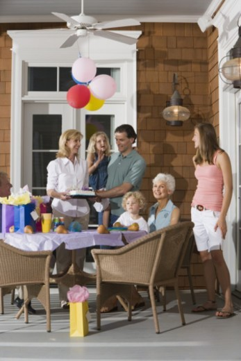 Family having birthday party : Stock Photo