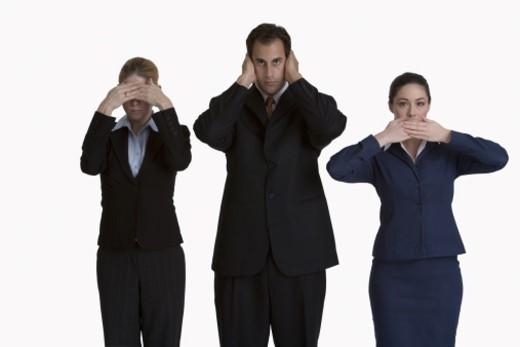 See no evil, hear no evil, and speak no evil : Stock Photo