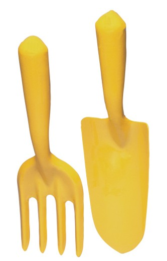 Yellow gardening tools : Stock Photo