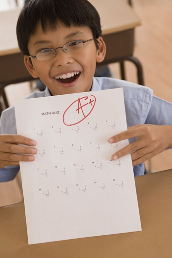 Stock Photo: 1557R-300868 Student with a good grade