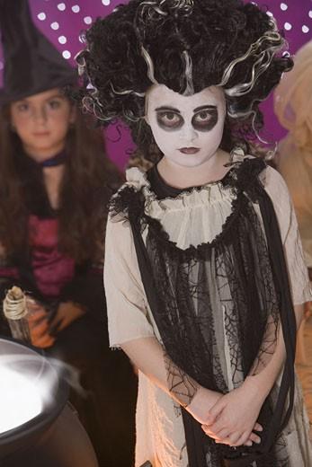 Girl in zombie costume : Stock Photo