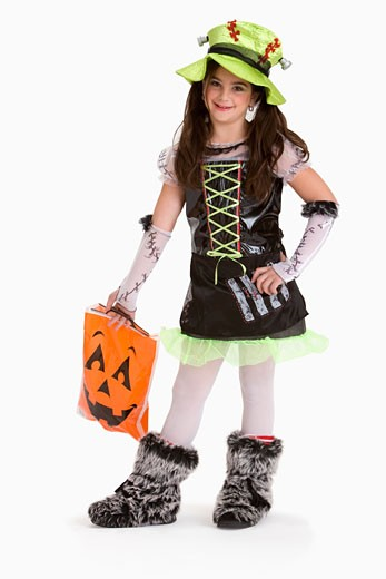 Girl in Halloween costume : Stock Photo