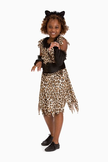 Stock Photo: 1557R-302044 Girl in cat costume