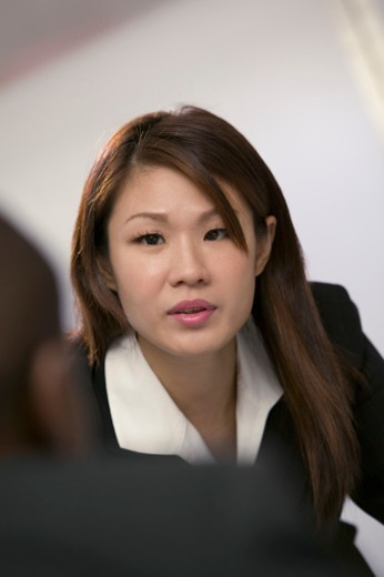 Serious businesswoman : Stock Photo