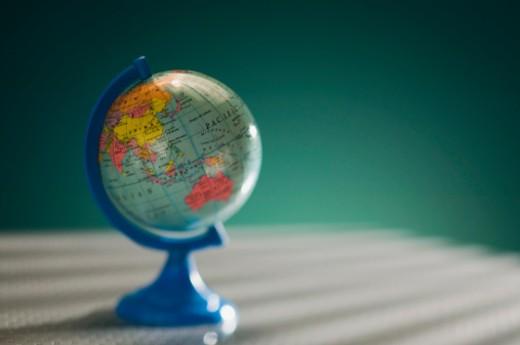 Stock Photo: 1557R-303298 World globe