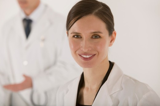 Stock Photo: 1557R-303633 Smiling doctor