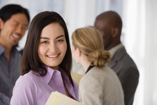 Stock Photo: 1557R-304451 Smiling businesswoman