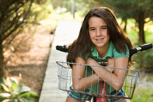 Girl on bike : Stock Photo