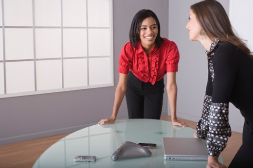 Stock Photo: 1557R-310594 Women in a conference call