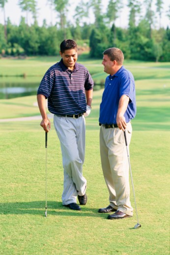 Stock Photo: 1557R-314253 Golfers on golf course