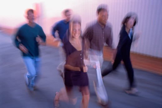 People walking outdoors : Stock Photo