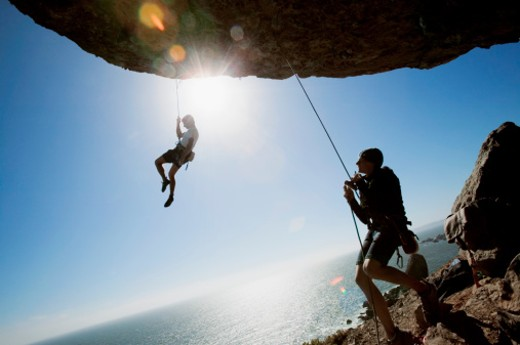 Rock climbers : Stock Photo