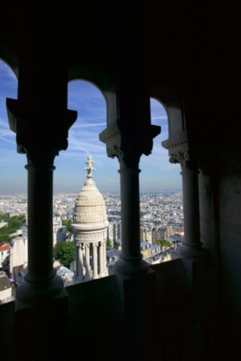 View out of Sacre Coeur arches, Paris : Stock Photo