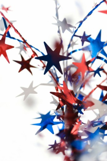 Stock Photo: 1557R-351712 Decorative stars for Fourth of July