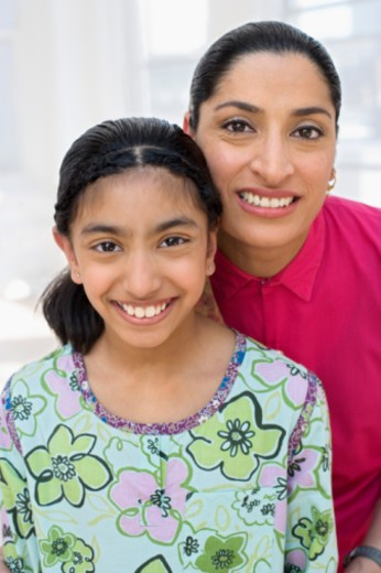 Stock Photo: 1557R-352280 Portrait of mother and daughter