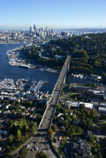 Aerial view of Seattle, Washington : Stock Photo
