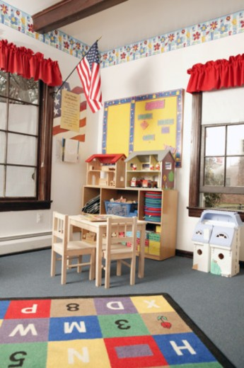 Classroom with toys : Stock Photo