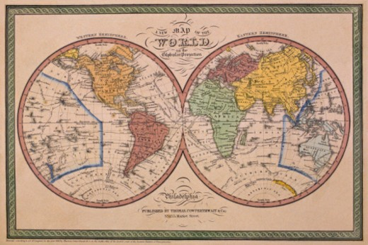 Stock Photo: 1557R-356408 Antique map of the world